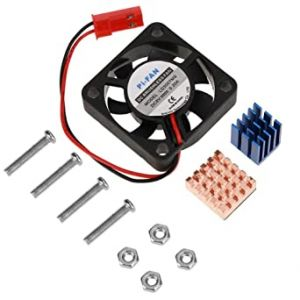 Kit Disipadores de cobre y aluminio para Raspberry Pi 2 /3 + Ventilador 5v