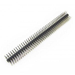 Conector header macho en L 40 pines x 2 2.54mm