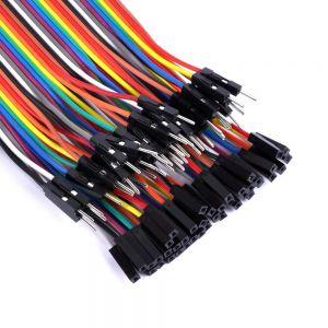 Cables Jumper / Dupont x 10 Macho - Hembra 20 cm