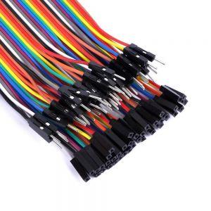 Cables Jumper / Dupont x 10 Macho - Hembra 30 cm