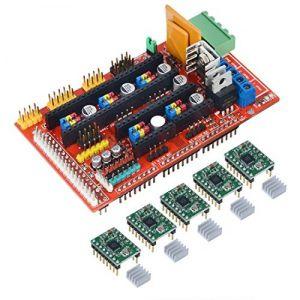 Shield Ramps V4.1 para CNC e Impresoras 3D + 5 Drivers motor con disipador