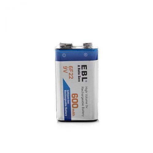 Bateria Recargable 9v 600mah Li-on Cuadrada EBL 6F22