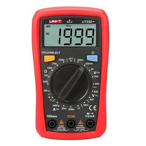 Multimetro digital UNI-T UT33D+