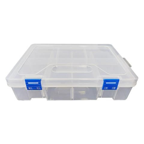 Caja Organizadora Transparente 2 niveles