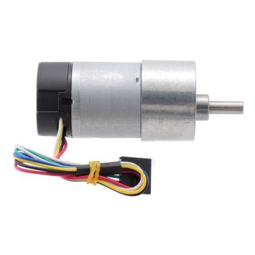 Motorreductor de metal 37Dx73L 12V con codificador de 64 CPR (piñón recto)