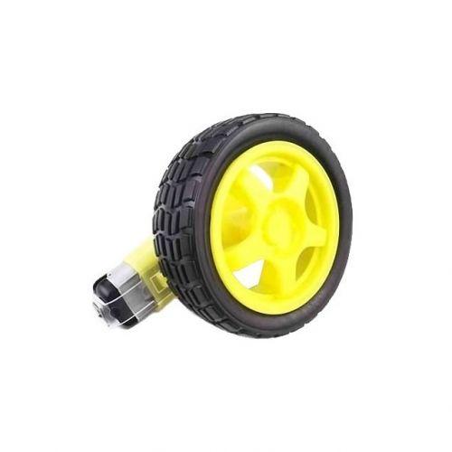 Motorreductor Amarillo Plastico con llanta 1 Kg*cm