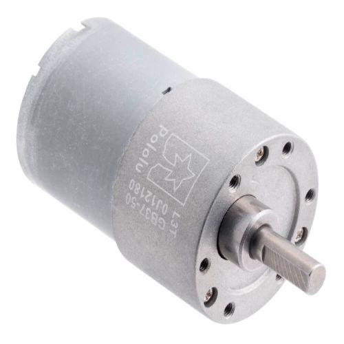 Motorreductor de metal 50: 1 37Dx54L mm 12V (Piñón helicoidal)