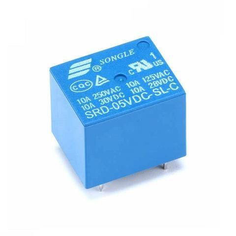 Relay 5VDC - Capacidad Max 250VAC / 30VDC - 10A